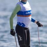 Leidse zeilster Daphne van der Vaart in 'gold fleet' op WK zeilen